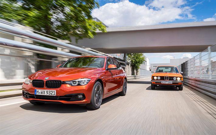 تحميل خلفيات BMW 3-series, G20, 4k, 2018 السيارات, بي ام دبليو M3, E21, تطور, السيارات الألمانية, BMW