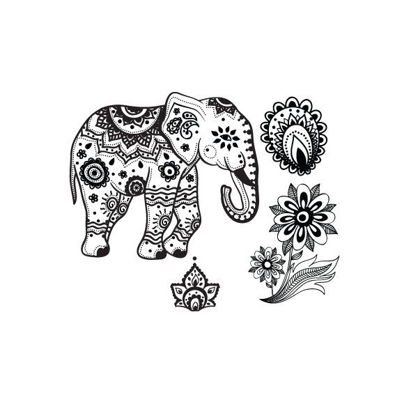 25 best ideas about indian elephant tattoos on pinterest for Temporary elephant tattoo