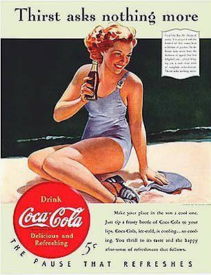 Coca-Cola | Retro advert | #CocaCola #USA #Vintage #Ads #Retro #deFharo #Publicidad #50s