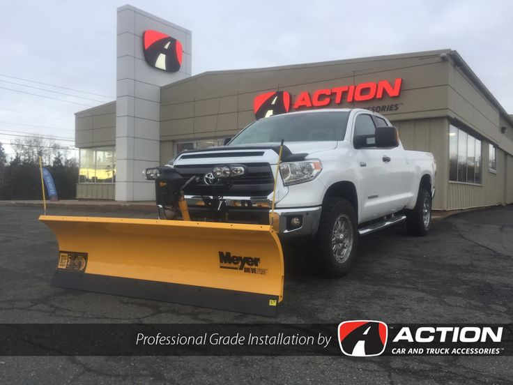 This 2016 Toyota Tundra Is Ready To Clear Snow With Its 7.6ft Drive Pro Plow