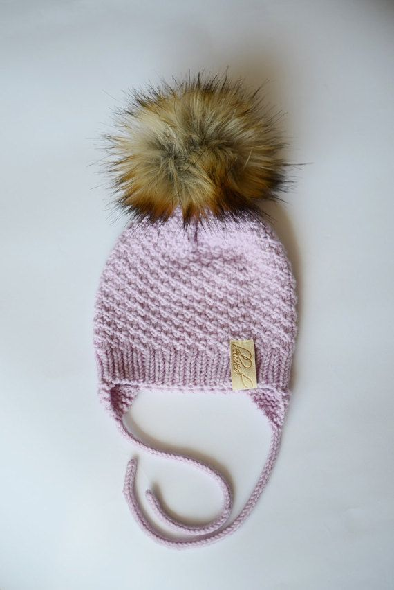 Toddler Girl Knit Hat Wool Baby Girl Hat Toddler Girl by belovedLT