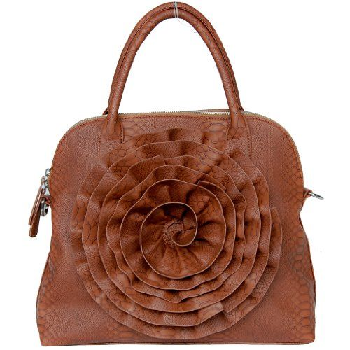 Classy Brown Rose tote bag By FASH-handbag,formal bag,gifting ideas FASH Limited,http://www.amazon.com/dp/B004IJNC9A/ref=cm_sw_r_pi_dp_a1VGsb0WZHQZGPGD