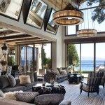 Una casa de estilo rústico-chic junto al Lago Tahoe · A rustic-chic house by Lake Tahoe