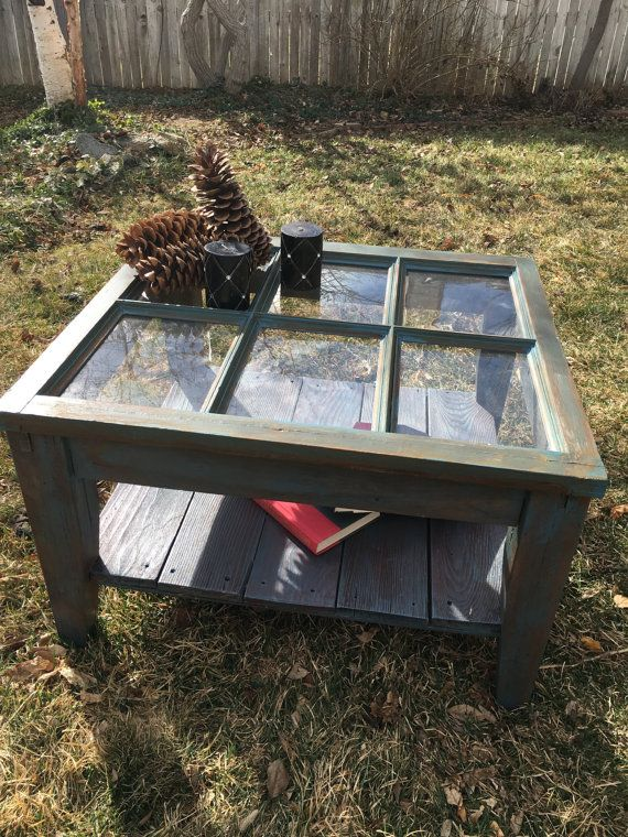 Antique Window Coffee Table by HayleyRoseRevamps on Etsy