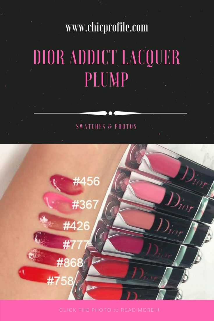 Dior Addict Lacquer Plump Swatches, Photos via @Chicprofile