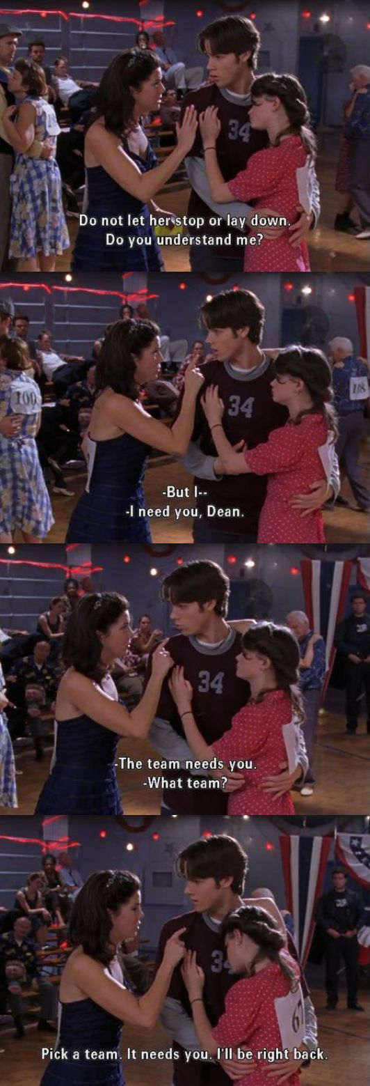 Do not let her stop or lay down..  ~ Gilmore Girls (2002) Quotes ~ Season 3, Episode 7: They Shoot Gilmores, Don't They? #amusementphile