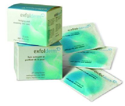 Cildin etkin biçimde soyulması donuk cansız hücreleri kaldırır, cildi renklendirir ve enerji verir. Exfolderm soyucu ürün serisi irritasyonsuz mükemmel sonuçlar sunar. Cilde nazikçe uygulanan, Exfolderm Pedler vitaminler, antioksidanlar ve organik bitkisel içerikli konsantre güçlendiricileri cilde doğrudan iletir ve sentetik dolgular, renkler, parfümler, petrol yan ürünleri ve sert kimyasallar içermez.