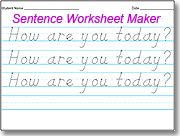 Amazing D'Nealian Handwriting Worksheet Maker -This website is free to use and so easy for handwriting worksheets!