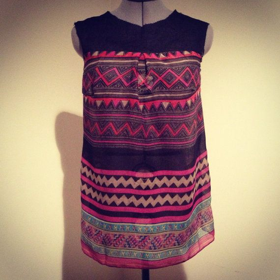 Hmong Print Top made to order by Xweets on Etsy