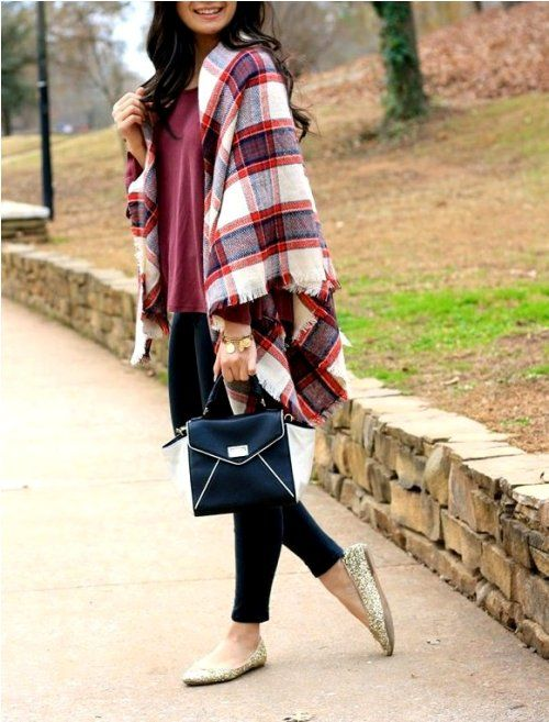8ea1849916 plaid blanket scarf-Winter quick and easy fashion tips – Just Trendy Girls