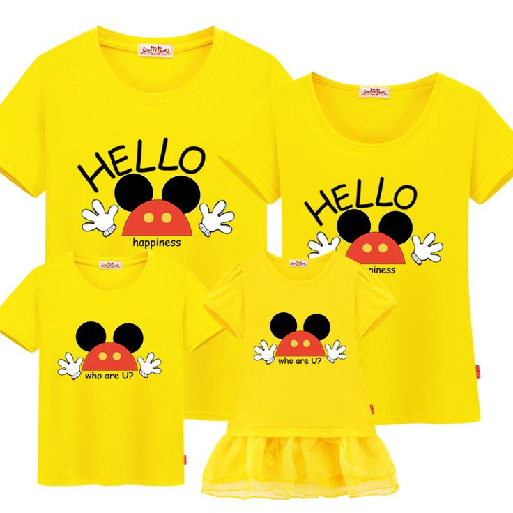 summer family matching outfits t-shirt 2017 new mother and daughter clothes set cotton family look father mother and son outfits #Affiliate