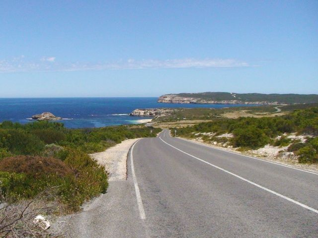 Driving into Yorke Peninsula