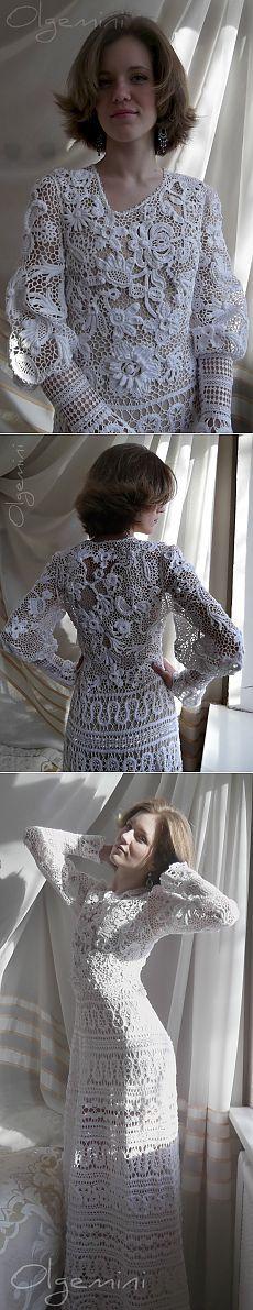 Dress & quot; & quot;. Lebedushka Beauté indescriptible !!!. Dentelle irlandaise + robe en dentelle de bryugskoe = & quot; LEBЁDUSHKA & quot; de OLGEMINI ... photos étape par étape ...