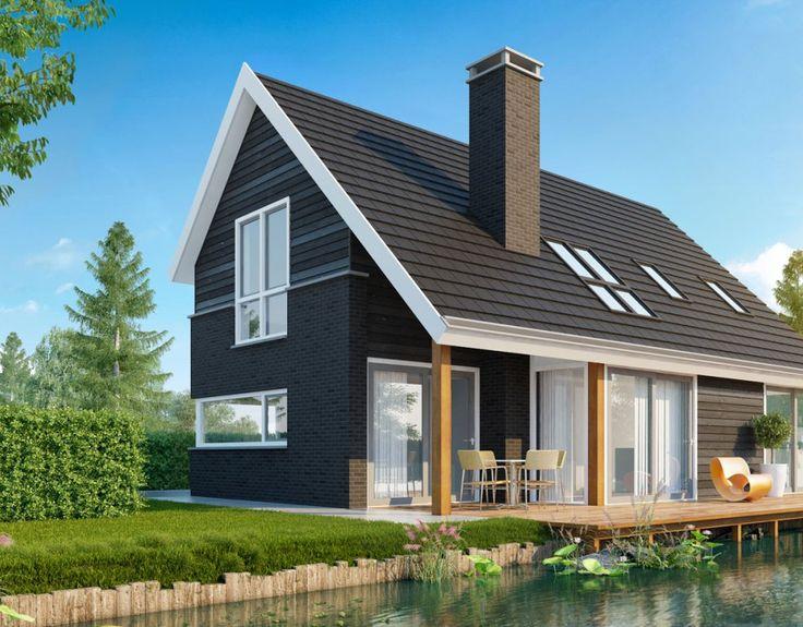 Meer dan 1000 idee n over gele huizen op pinterest geel huisje parijse keuken en huizen - Kleur gevel eigentijds huis ...