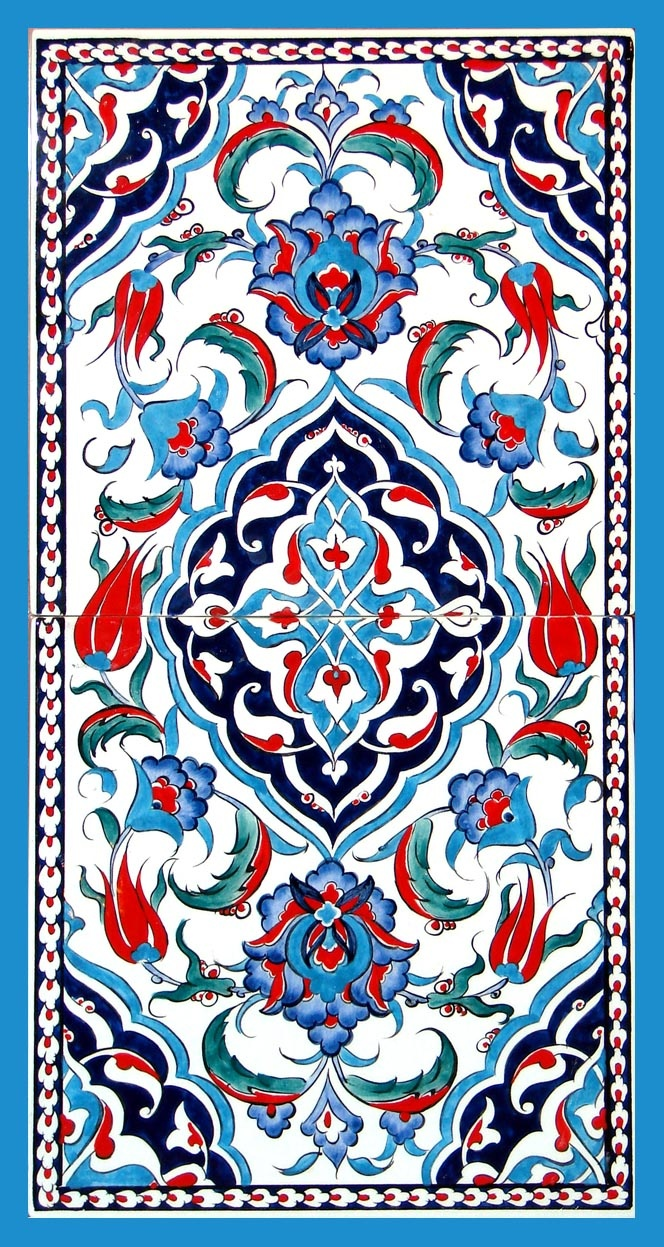 Iznik tiles for alcove
