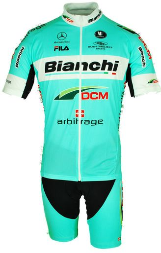2014 Arbitrage Bianchi Pro Team Cycling Jersey made by Vermarc in Italy