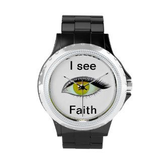 I watch and see faith wrist watch