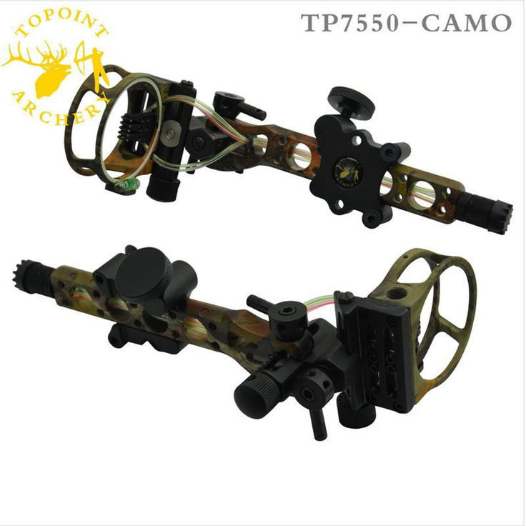 Topoint 5 pins .019 Bow Sight with Micro Adjust Detachable Bracket, Sight Light for Both Right /Left Hand Compound Bow Archery(China (Mainland))