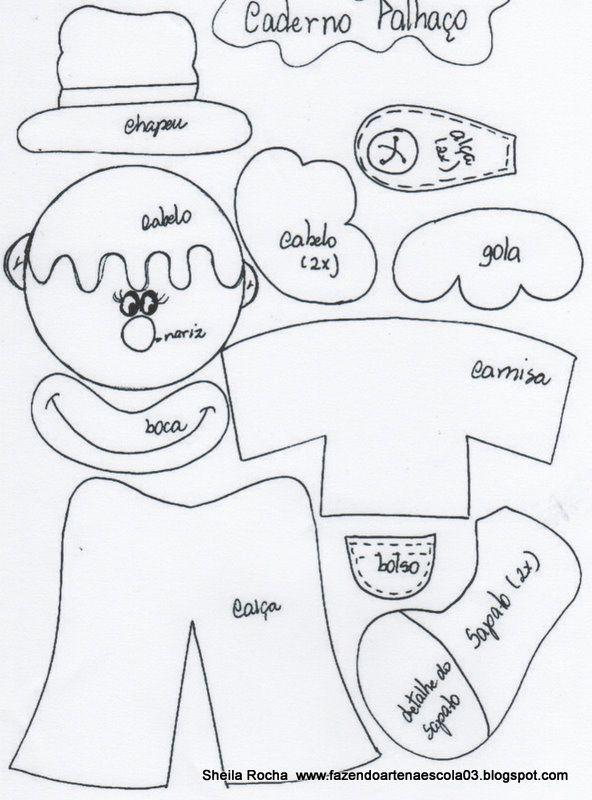kit cuaderno y lapiz Payaso | Todo en GOMA EVA