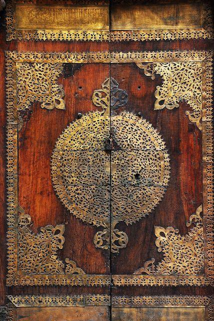 Amazingly intricate Mosque door. Photo credit David Lewis  https://www.flickr.com/photos/dslewis/5304115311/in/photostream/