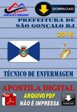 Apostila Digital Concurso Prefeitura de Sao Goncalo RJ Tecnico de Enfermagem 2016