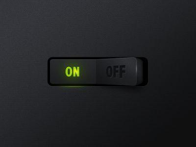 Dribbble - Switch button by Filip Slováček