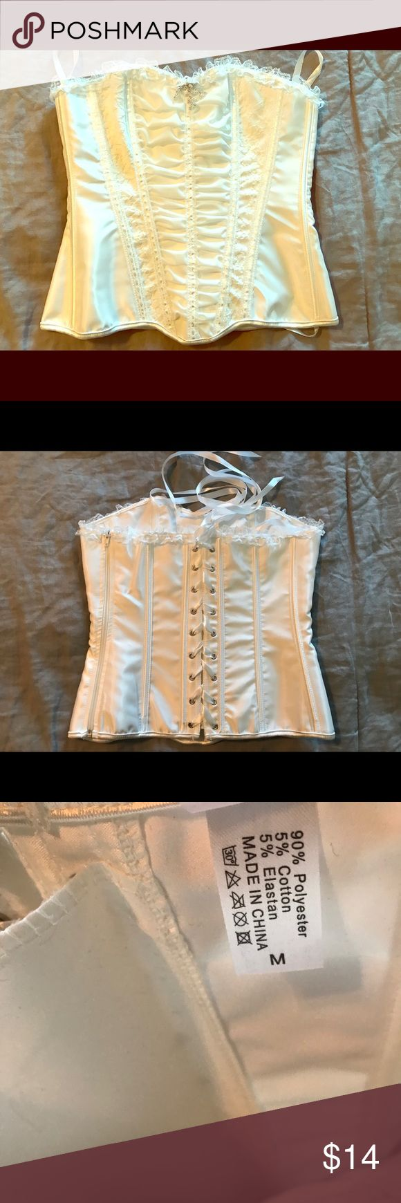 Corset top Never been worn, white corset top Tops