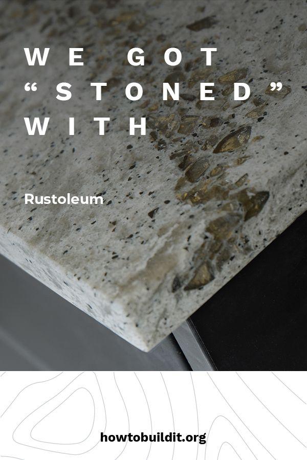 We Got Stoned With Rustoleum Stone Spray Paint Rustoleum