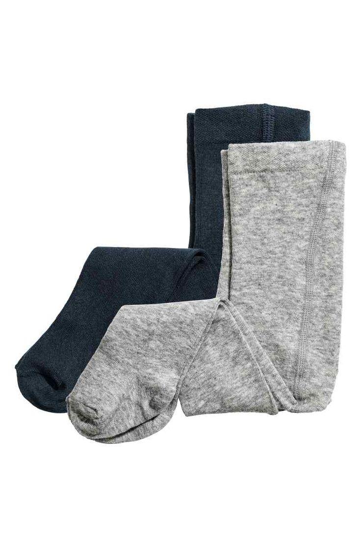 Calzamaglie, 2 pz: Calzamaglie sottili in morbido misto cotone con elastico in vita.