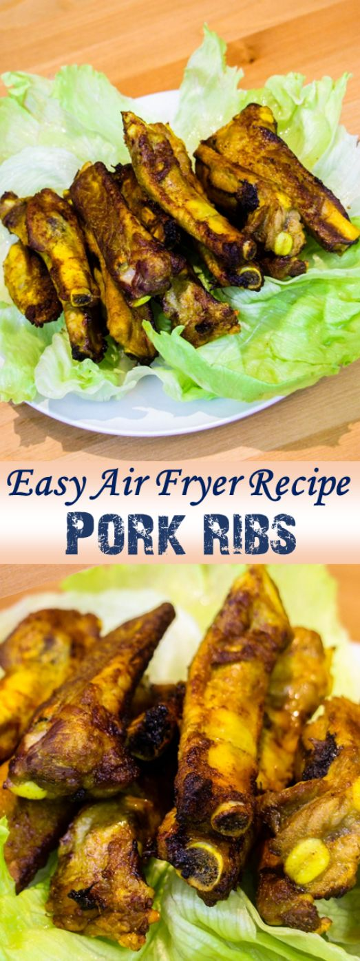 Super easy 10 minutes paprika pork ribs. It is an air fryer recipe :)