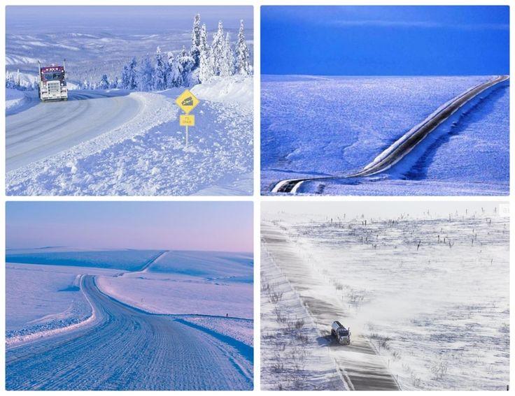 Самые опасны дороги в мире Шоссе Джеймса Далтона – Аляска. В ледяной Аляске неудивительно, что эта дорога покрыта льдом большую часть года. Множество спусков, подъемов и поворотов, поэтому необходимо соблюдать меры предосторожности в каждой точке.  Купить страховку для посещения США можно на сайте https://straxovki.net/  #зарубеж #отдых #дороги #insurance #travel #страховка #страховкинет #straxovkinet #путешествия #travelinsurance #самыйсамый #США