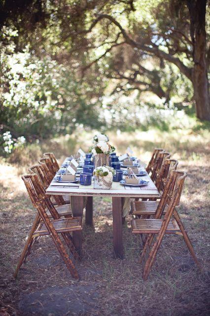 Simple Wedding Decor: Yosemite Inspired
