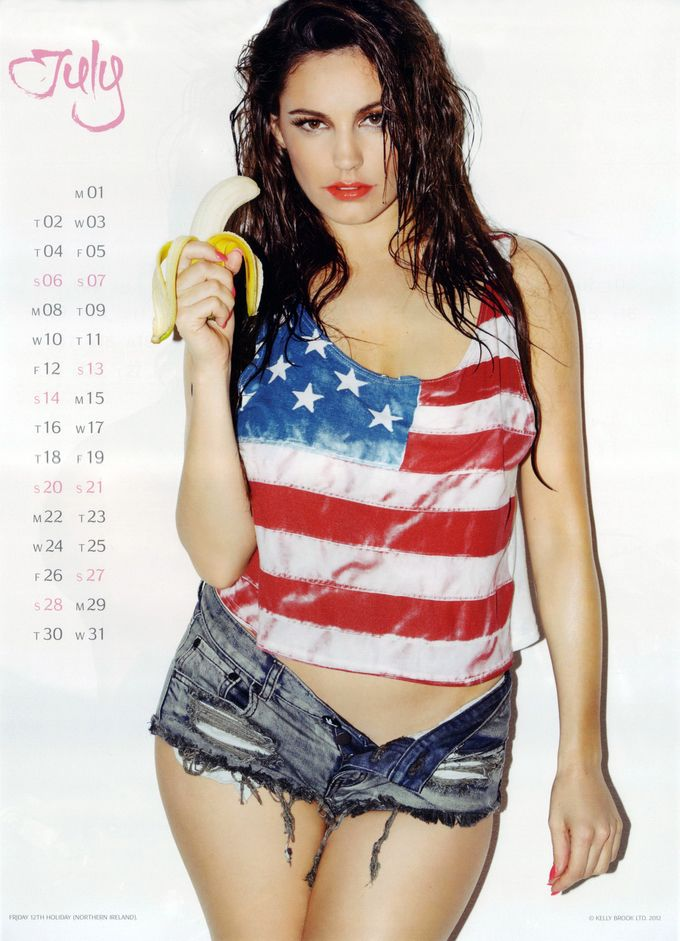 The Official Kelly Brook Calendar 2013 july