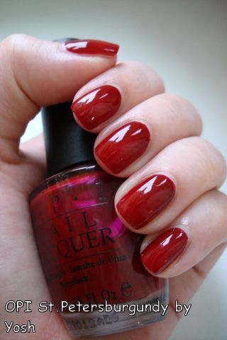 St. Petersburgundy... love this perfect fall shade of red!!