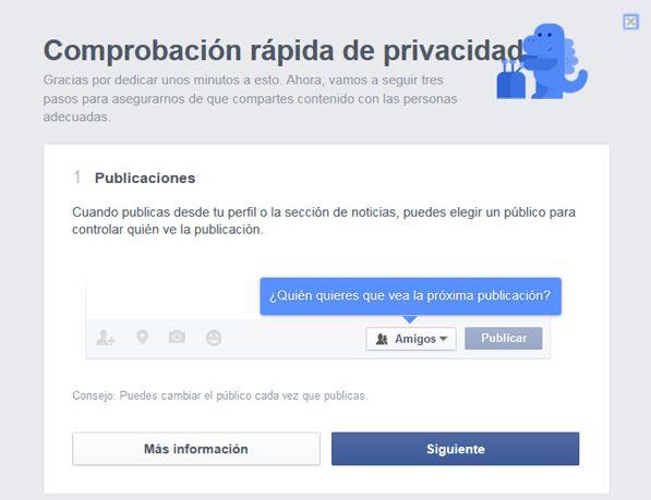 Configuraciones fáciles en Facebook, que garantizan la seguridad