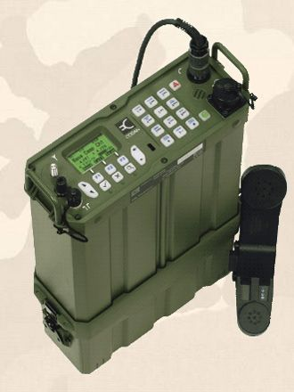 The Codan 2110M HF man-pack military tactical transceiver.