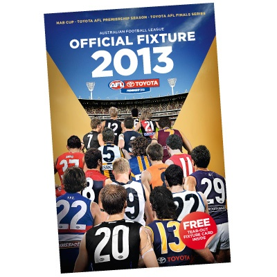 2013 AFL Official Fixture Guide - AFL Online Shop