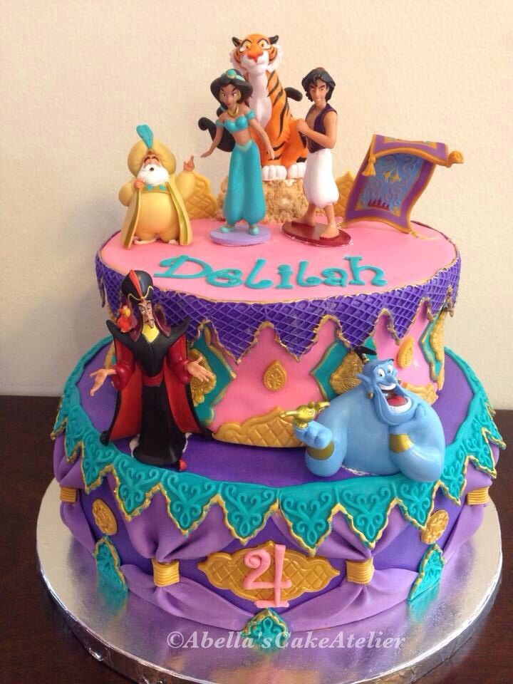 Aladdin & Princess Jasmine Arabian Nights Cake
