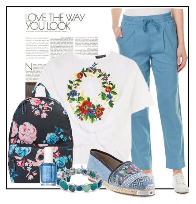 """""""Love the way you look (Spring)"""" by velvetmahya ❤ liked on Polyvore featuring G.H. Bass & Co., Topshop, Herschel Supply Co., Giuseppe Zanotti, Nine West, Essie and springshoes"""