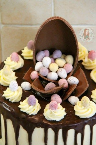 A Mini Egg Easter cake shared by Jane's Patisserie. Bound to bring a smile to every Easter table, if you can wait that long!