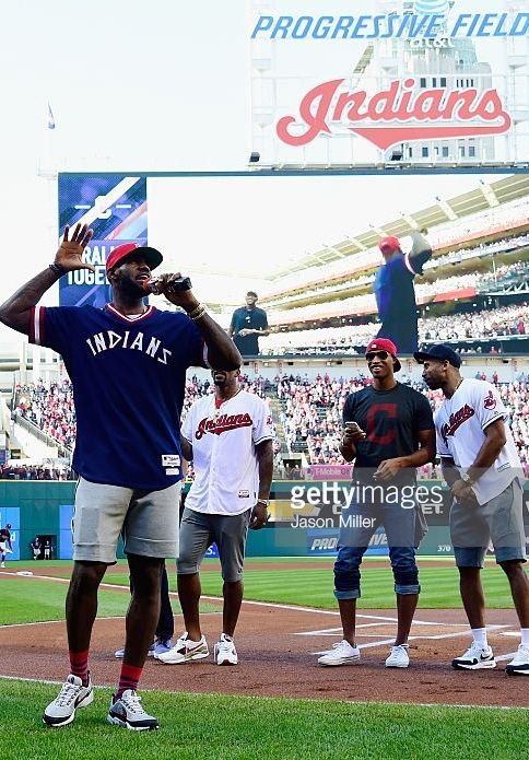 LeBron James and the Cavs address the crowd pregame//Oct 7, 2016 GAME 2 ALDS v BOS