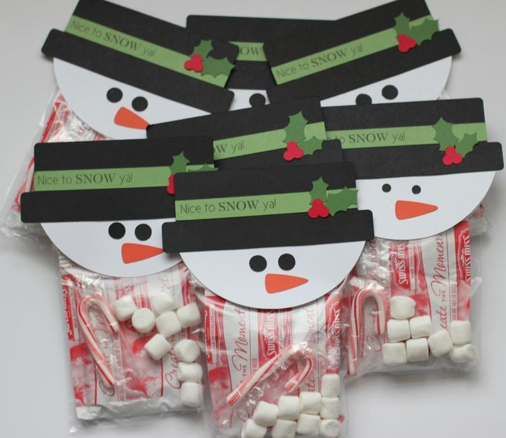 Snowman hot cocoa treats!! ... or just a cute hanging ornament ... without the treat!