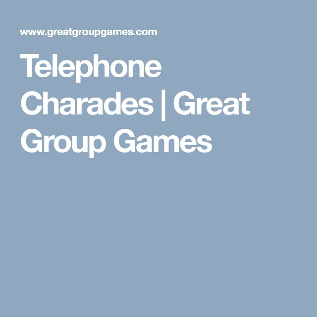 Telephone Charades | Great Group Games