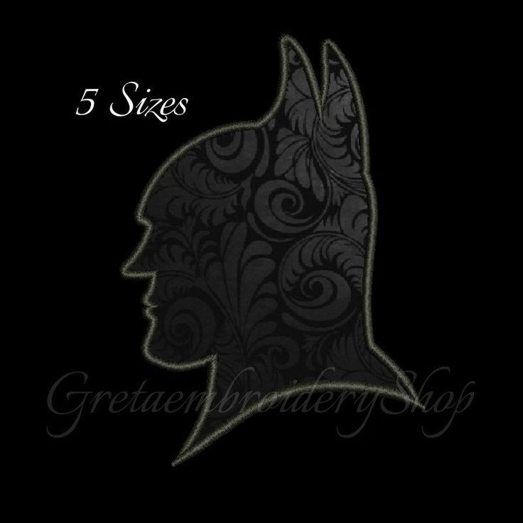 Batman embroidery designs,digital download,Batman face embroidery,Batman applique design,Batman gift design,machine embroidery by GretaembroideryShop on Etsy