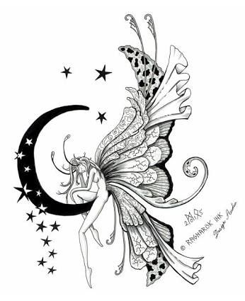 Image result for fairy white ink tattoo