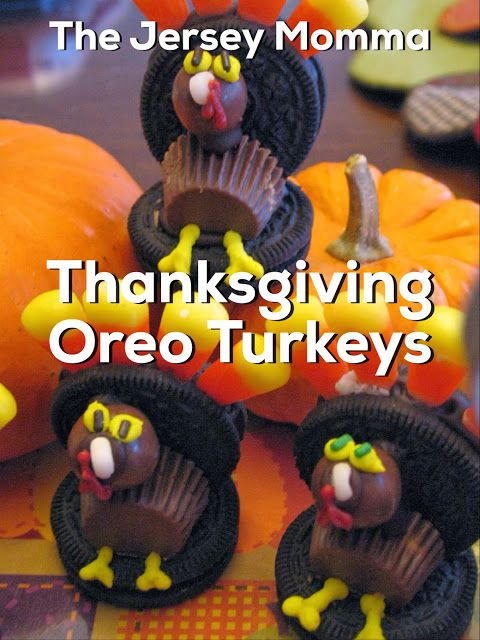 The Jersey Momma: How to Decorate for Thanksgiving: Oreo Turkeys and More!