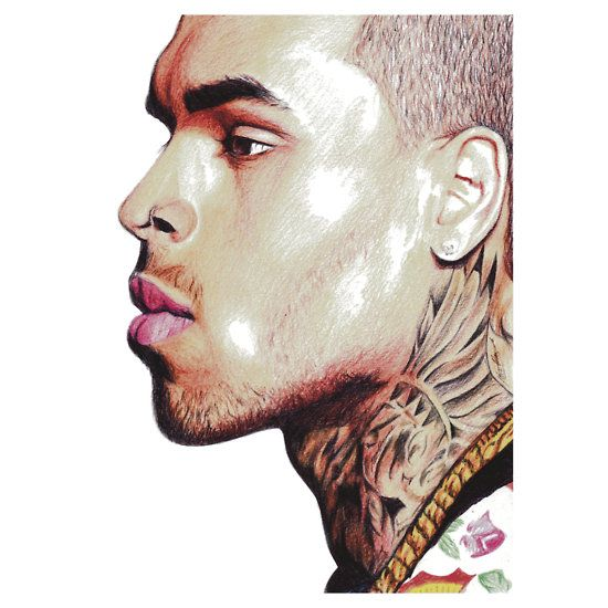Tatted Chris #chrisbrown #music #hiphop #rnb #tattoos #breezy #portrait cool