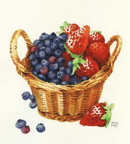 ✿Basket fruits & Vegetables✿ basket of berries