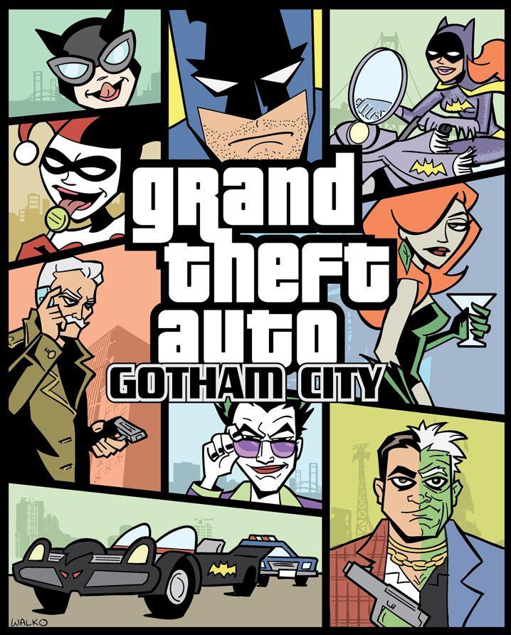 Grand Theft Auto: Gotham City via  GeekTyrant. I wonder who made it...