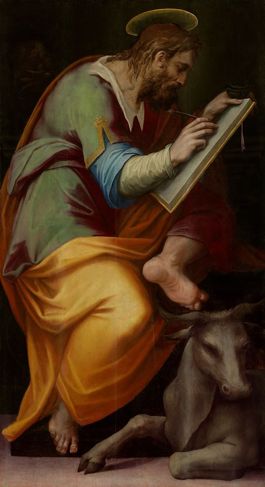 "Giorgio Vasari, ""Saint Luke,"" 1570-1571, oil on panel10325239_10152599612108044_2292852488983988041_n.jpg (523×960)"